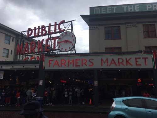 Entrance of Pike Place Market in Seattle