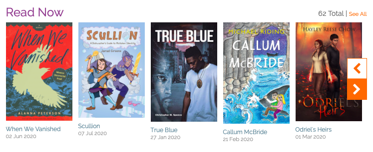 screen shot of When We Vanished on NetGalley among other YA books