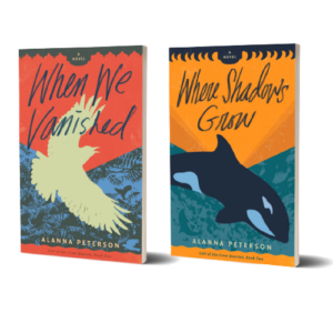 Covers of When We Vanished and Where Shadows Grow